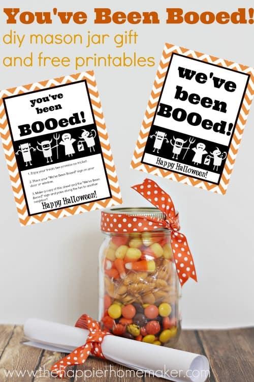 You\u0027ve Been Booed! Mason Jar Gift  Free Printables The Happier