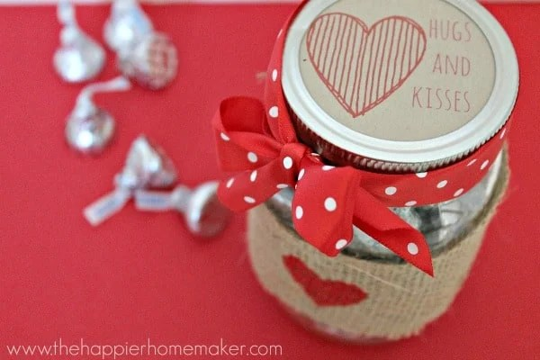 Valentine Mason Jar Gift & over 40 Valentine's Day Ideas!