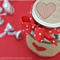 Valentine Mason Jar Gift & over 40 Valentine's Day Ideas!