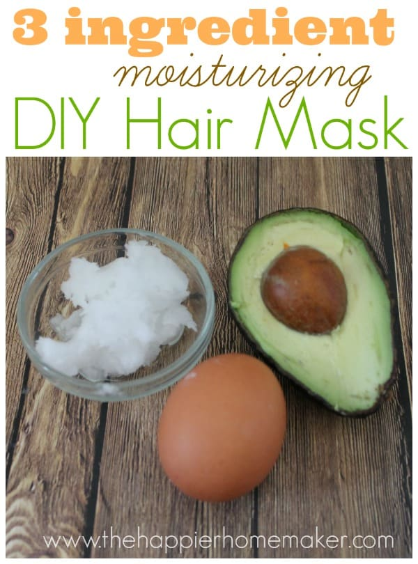 easy diy moisturizing hair mask the happier homemaker. Black Bedroom Furniture Sets. Home Design Ideas