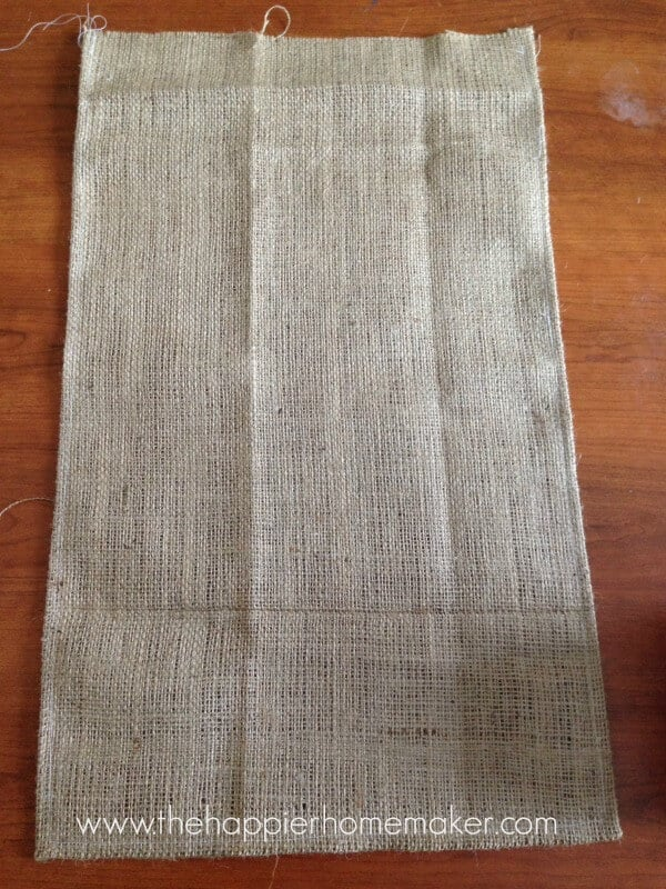 hemming burlap easter banner diy