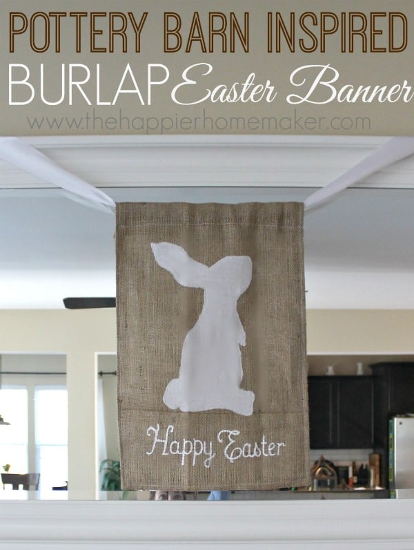 pottery barn easter bunny banner