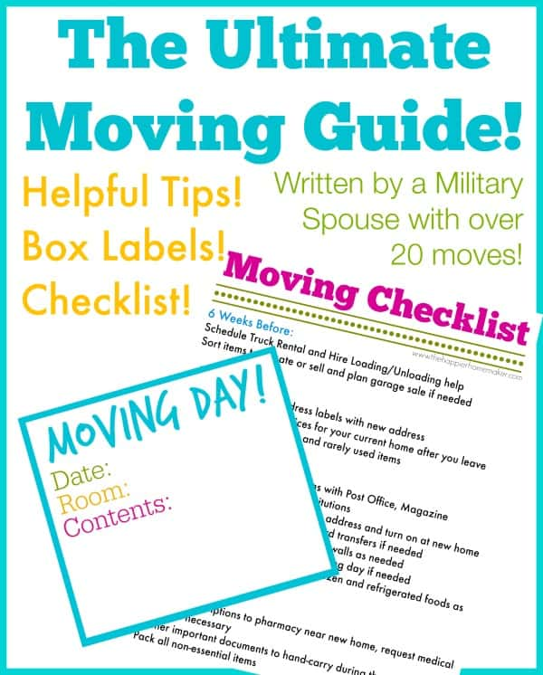 The Ultimate Moving Guide! The Happier Homemaker