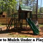 how to mulch under a playset