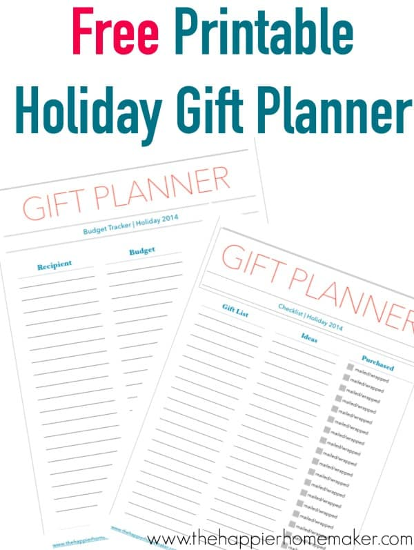 Christmas Planner Printable The Happier Homemaker