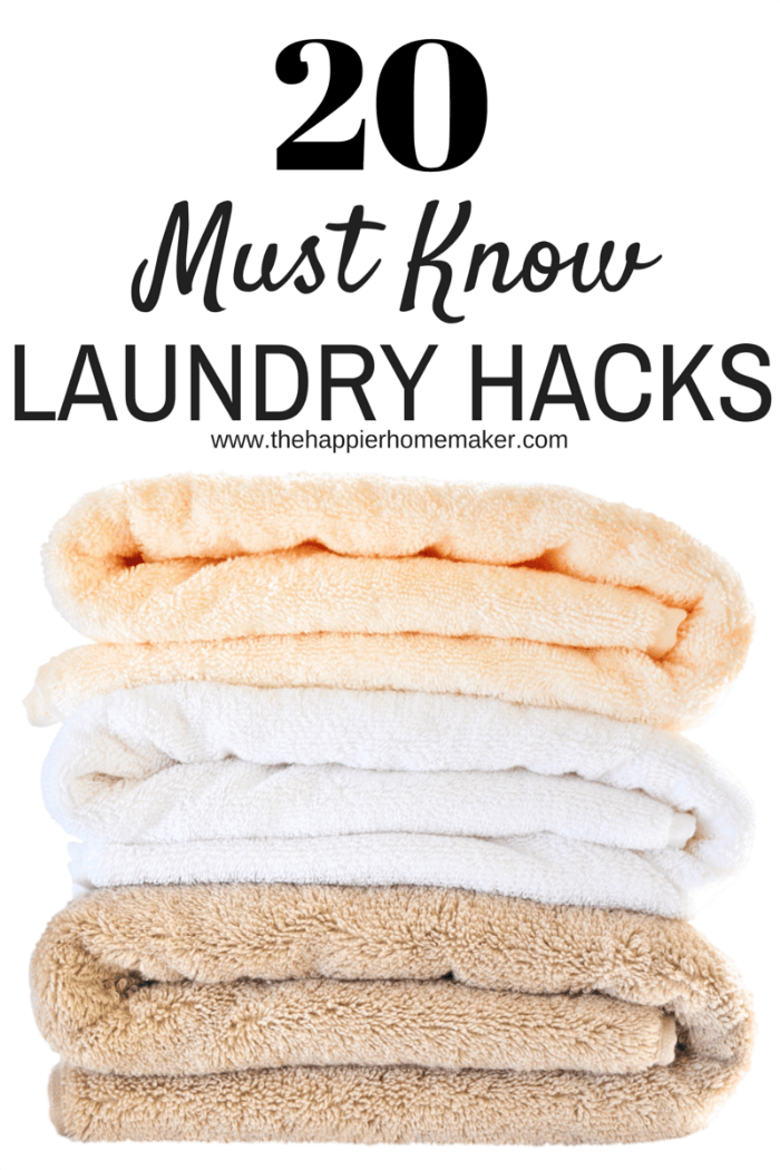 20 Must Know Laundry Hacks
