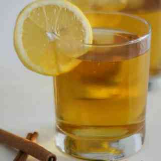 A classic hot toddy made with apple cider can be the perfect thing to warm you up in the winter-and they say it can help you get over a cold sooner!