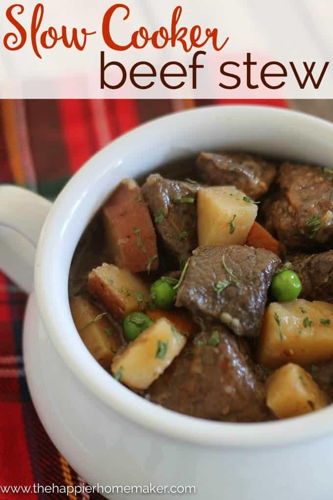 Slow Cooker Beef Stew - The Happier Homemaker