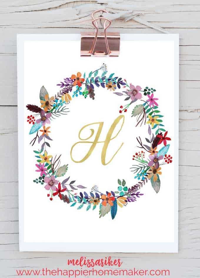 Free Printable Monogram Art The Happier Homemaker
