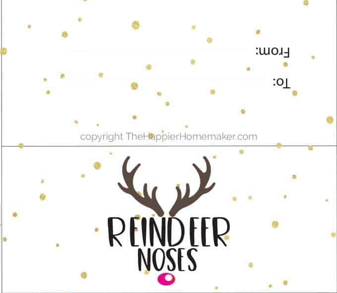 Reindeer Nose Gift with Free Printable Tags The Happier Homemaker
