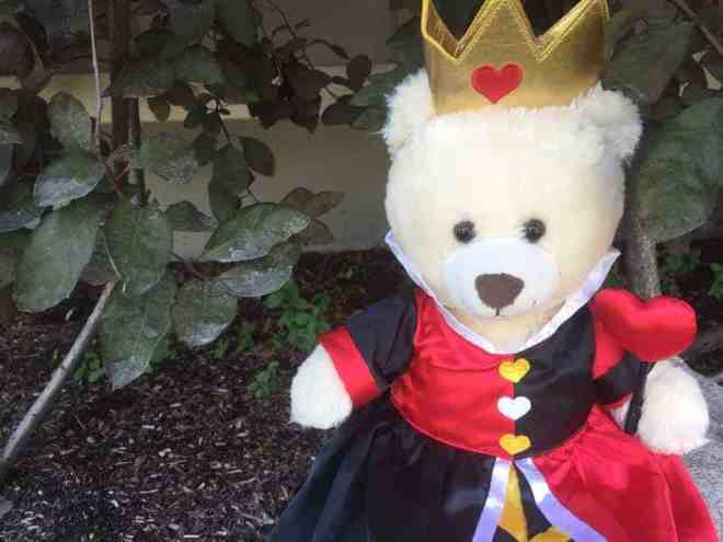 Queen of Hearts outfit from Build-A-Bear at the Disneyland Resort.