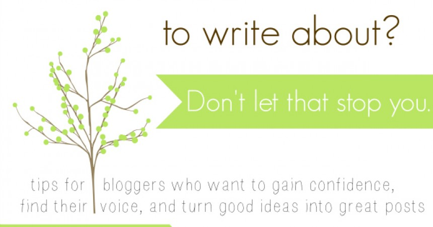 I don\u0027t know what to write about!\