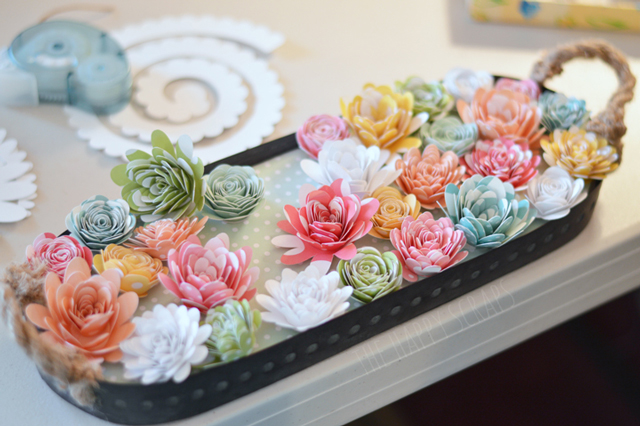 Paper Flower Spring Centerpiece The Happy Scraps