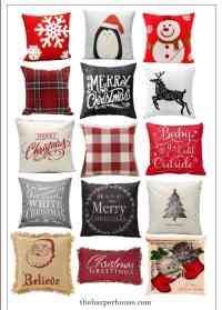 cheap christmas pillows | The Harper House