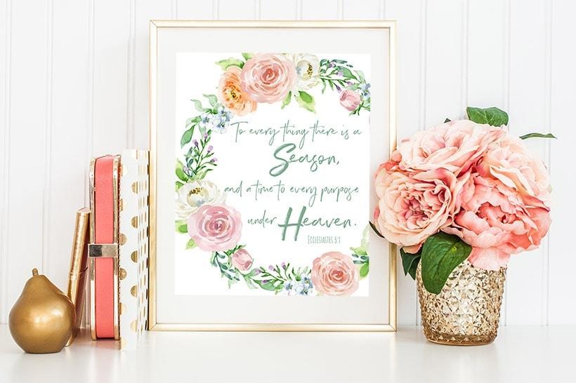 Free Spring Printable - Ecclesiastes 31 The Harper House