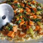 Vegetable Curry Pizza with Basmati Rice Crust