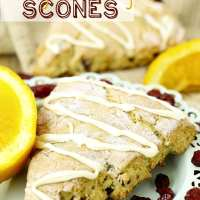 Gluten-Free Orange Cranberry Scones + My Pros and Cons of Ebook Writing