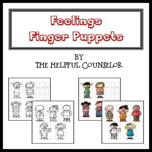 Feelings Counseling Activity - Fingers Puppets Square Cover