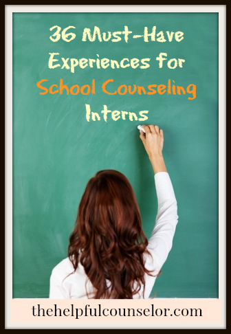 36 Must-Have Experiences for School Counseling Interns \u2022