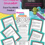 Dealing with Rumors & Gossip Activity: June Facebook Freebie