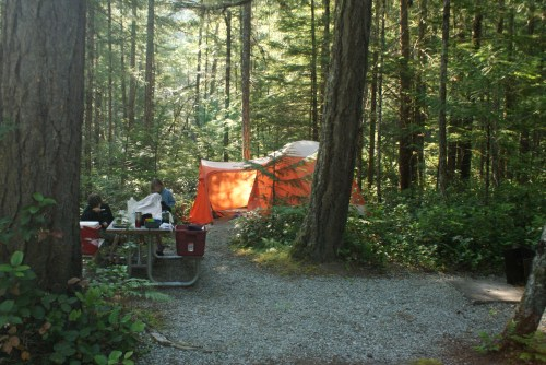 newhalem creek campground, north cascades, camping with children, big agnes tents