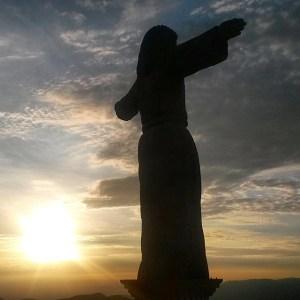 Hiking up to El Cristo Monumental for sunrise  Taxcohellip
