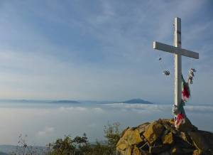 Gazing down upon a cloud covered Lake Chapala  Athellip