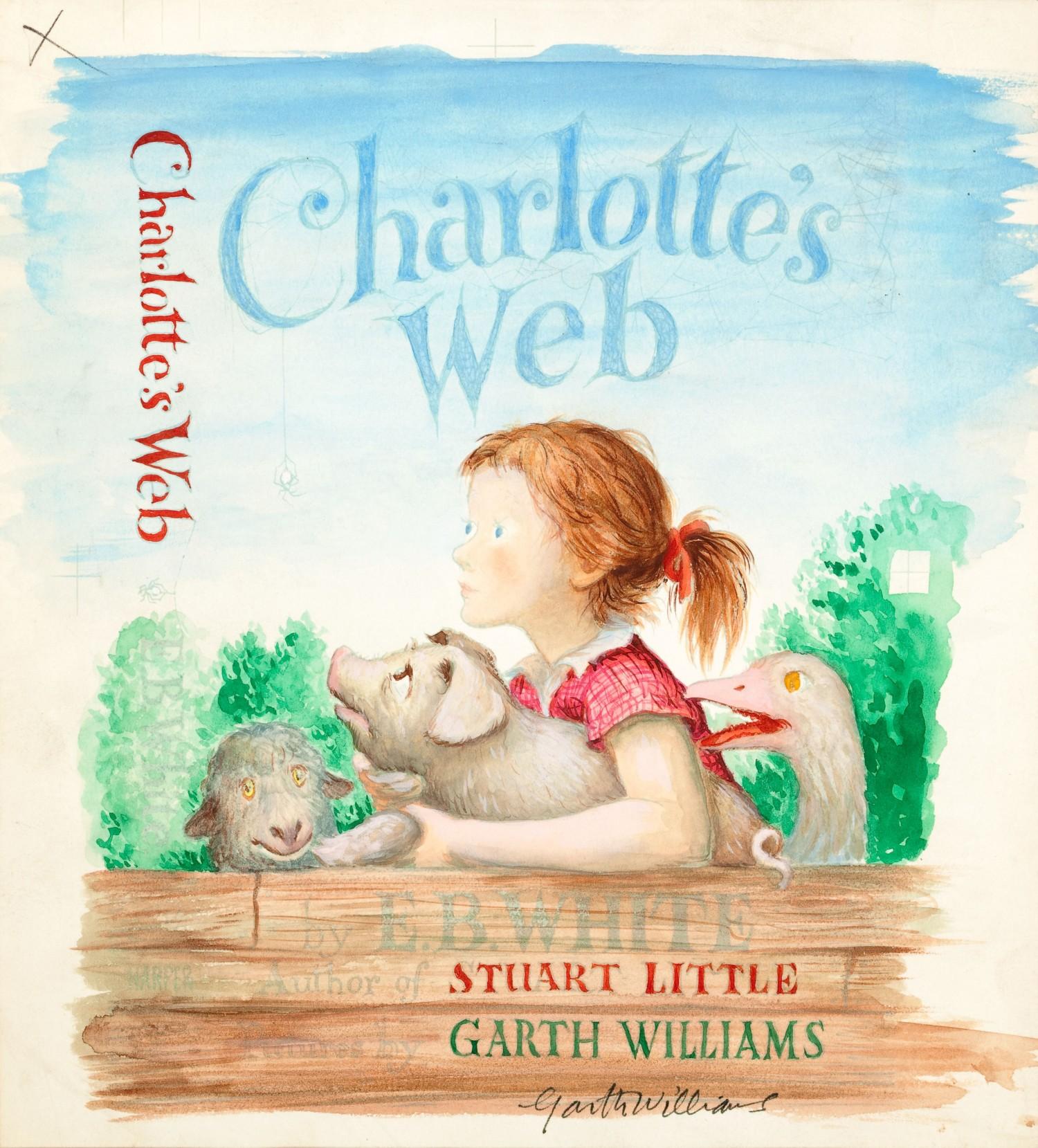 charlotte s web watercolor of cover design garth williams