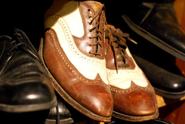 Vintage spectator shoes at Gadabout.