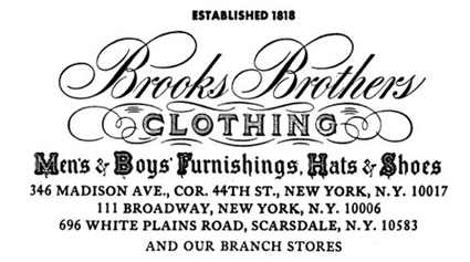1b58c961a49 Things are kind of complicated between me and Brooks Brothers. On the one  hand