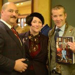 Kelly and Rose with John Jay, winner of the I Am Dandy book giveaway.