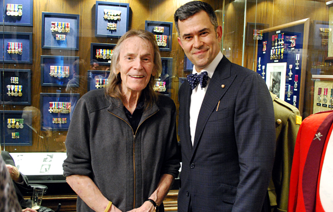With Canadian songwriting legend - and writer of the book's foreward - Gordon Lightfoot.