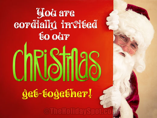 christmas cards invitation