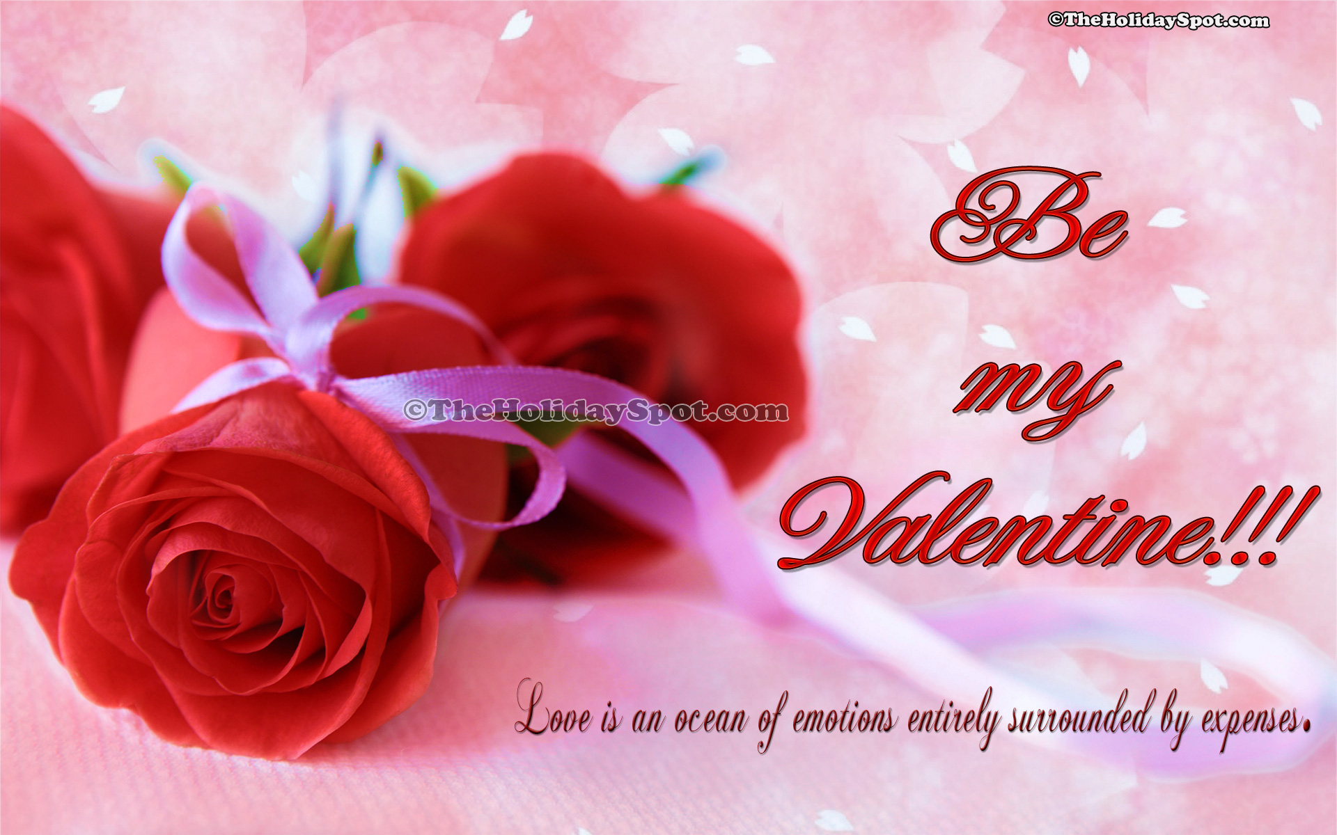 Hd valentine s day wallpapers of two red roses