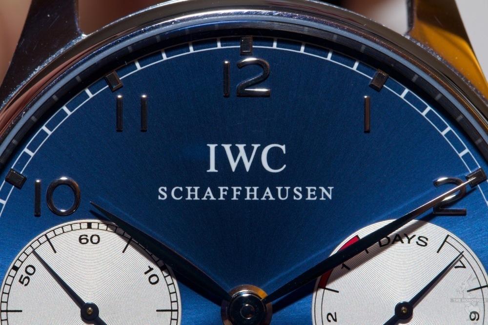 IWC Portuguese Laureus blue dial
