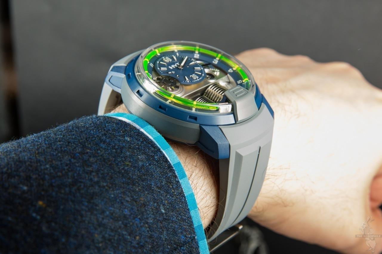 HYT H1 Alumen Blue wrist
