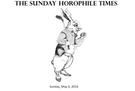 The Sunday Horophile Times 04.05.2014