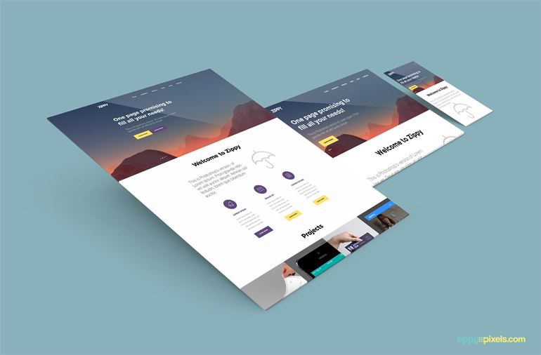 25+ FREE Perspective / Isometric Web Mockup Templates PSD