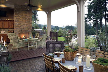 Creating The Perfect Outdoor Living Room The House Designers