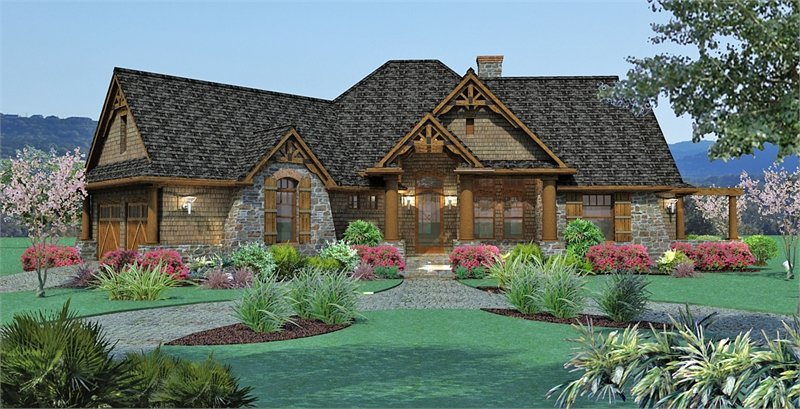 Sloping Lot House Plans \ Home Designs The House Designers - home designers