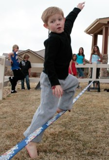 Slackline for beginners -35 Holiday Gifts that Inspire Adventure in Boys