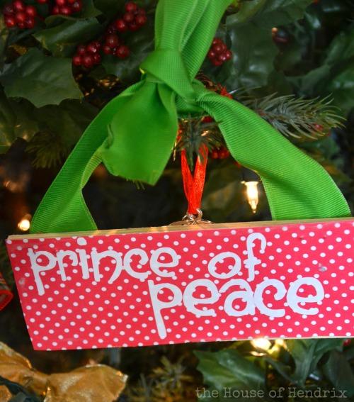 Prince of Peace - DIY Wood Christmas Ornaments