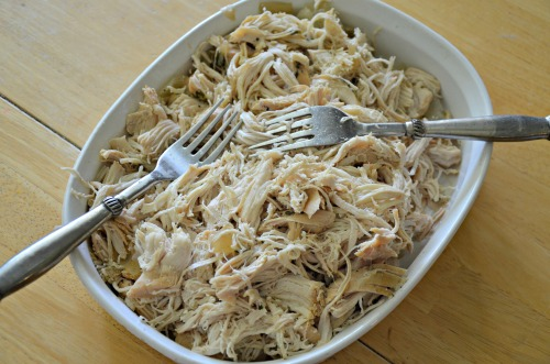 The best Slow Cook Shredded Chicken with Cilantro and Lime
