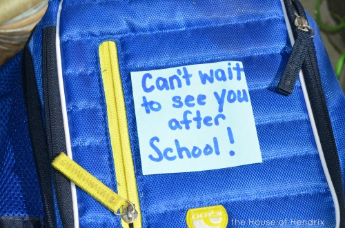 Send a mid-day note in their lunch box.