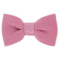 Pink Knitted Silk Bow Tie - Monza - The House of Ties
