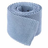 Sky Blue Knit Tie - Blue Tie - Knitted Tie - The House of Ties