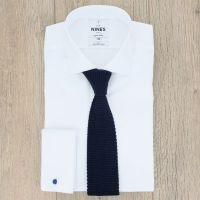 Knit Navy Tie - Knitted Ties - Blue Tie - The House of Ties