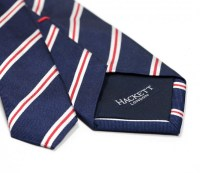Hackett navy blue tie with red and white stripes - The ...