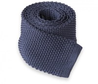 Grey Knit Tie - Knitted Tie - The House of Ties