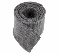 Grey Knitted Cotton Tie - The House of Ties